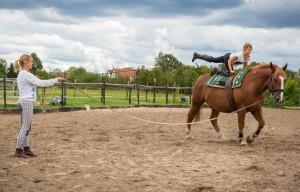 Voltigeren Einzelunterricht Reitstunden Reiterhof Brunow für Kinder
